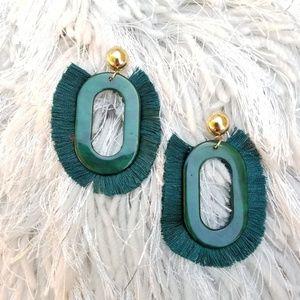 Fashion Earrings -Green